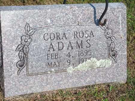ADAMS, CORA ROSA - Washington County, Arkansas | CORA ROSA ADAMS - Arkansas Gravestone Photos