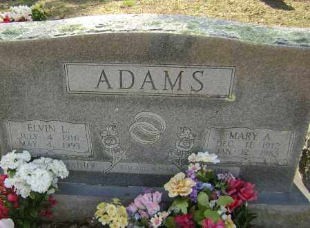 ADAMS, ELVIN LLOYD - Washington County, Arkansas | ELVIN LLOYD ADAMS - Arkansas Gravestone Photos