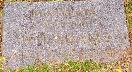 ADAMS, MATILDA - Washington County, Arkansas | MATILDA ADAMS - Arkansas Gravestone Photos