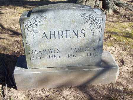 MAYES AHRENS, CORA - Washington County, Arkansas | CORA MAYES AHRENS - Arkansas Gravestone Photos