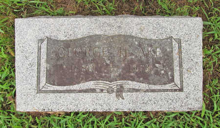 AKE, GEORGE H - Washington County, Arkansas | GEORGE H AKE - Arkansas Gravestone Photos