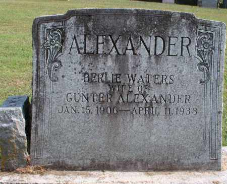 WATERS ALEXANDER, BERLIE - Washington County, Arkansas | BERLIE WATERS ALEXANDER - Arkansas Gravestone Photos