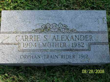 ALEXANDER, CARRIE S. - Washington County, Arkansas | CARRIE S. ALEXANDER - Arkansas Gravestone Photos