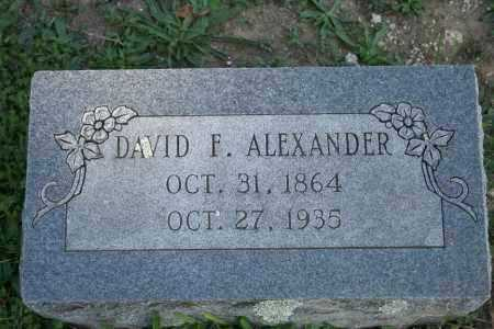 ALEXANDER, DAVID F. - Washington County, Arkansas | DAVID F. ALEXANDER - Arkansas Gravestone Photos