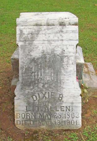 ALLEN, DIXIE B - Washington County, Arkansas | DIXIE B ALLEN - Arkansas Gravestone Photos