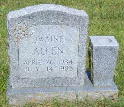 ALLEN, DWAINE - Washington County, Arkansas | DWAINE ALLEN - Arkansas Gravestone Photos