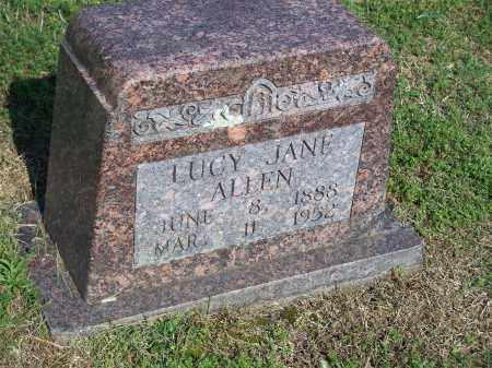 ALLEN, LUCY JANE - Washington County, Arkansas | LUCY JANE ALLEN - Arkansas Gravestone Photos