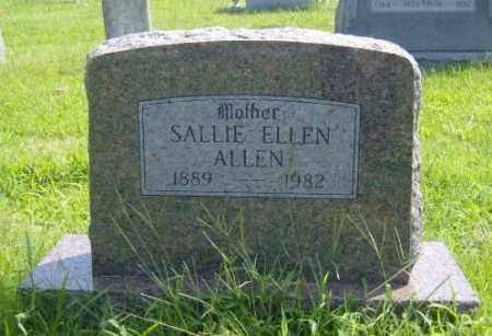 ALLEN, SALLIE ELLEN - Washington County, Arkansas | SALLIE ELLEN ALLEN - Arkansas Gravestone Photos