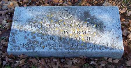 ALLEN (VETERAN WWII), FRED LYLE - Washington County, Arkansas | FRED LYLE ALLEN (VETERAN WWII) - Arkansas Gravestone Photos