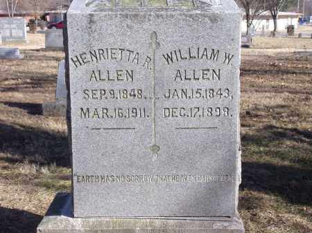 ALLEN, WILLIAM W. - Washington County, Arkansas | WILLIAM W. ALLEN - Arkansas Gravestone Photos