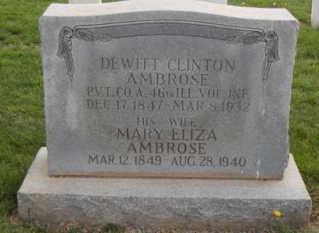 AMBROSE (VETERAN UNION), DEWITT CLINTON - Washington County, Arkansas | DEWITT CLINTON AMBROSE (VETERAN UNION) - Arkansas Gravestone Photos