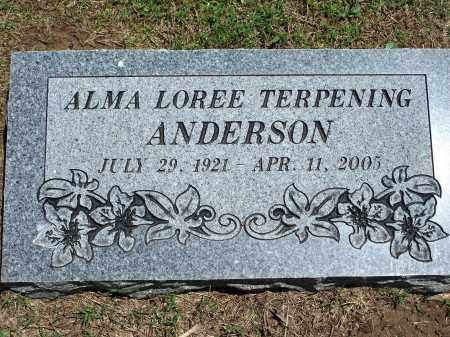 TERPENING ANDERSON, ALMA LOREE - Washington County, Arkansas | ALMA LOREE TERPENING ANDERSON - Arkansas Gravestone Photos