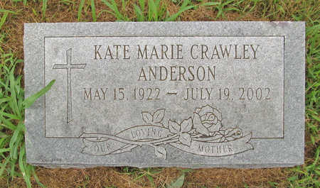 CRAWLEY ANDERSON, KATE MARIE - Washington County, Arkansas | KATE MARIE CRAWLEY ANDERSON - Arkansas Gravestone Photos