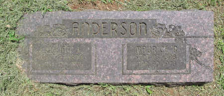 ANDERSON, MAURICE R - Washington County, Arkansas | MAURICE R ANDERSON - Arkansas Gravestone Photos