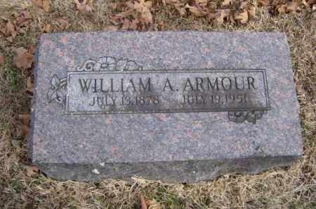 ARMOUR, WILLIAM A. - Washington County, Arkansas | WILLIAM A. ARMOUR - Arkansas Gravestone Photos