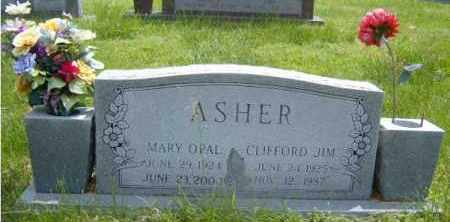 ASHER, MARY OPAL - Washington County, Arkansas | MARY OPAL ASHER - Arkansas Gravestone Photos