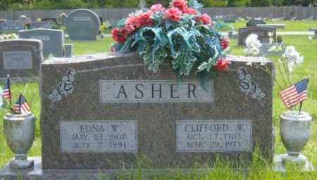 ASHER, EDNA - Washington County, Arkansas | EDNA ASHER - Arkansas Gravestone Photos