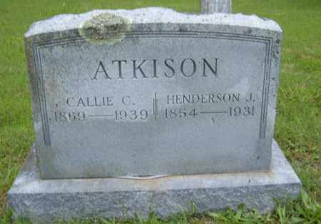 ATKISON, HENDERSON J. - Washington County, Arkansas | HENDERSON J. ATKISON - Arkansas Gravestone Photos