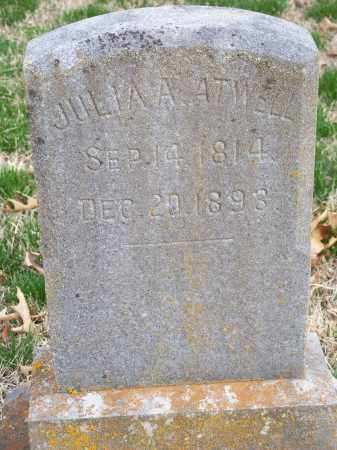 ATWELL, JULIA A. - Washington County, Arkansas | JULIA A. ATWELL - Arkansas Gravestone Photos