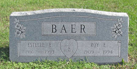 BAER, ESTELLE E - Washington County, Arkansas | ESTELLE E BAER - Arkansas Gravestone Photos