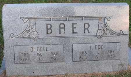 BAER, I. EDD - Washington County, Arkansas | I. EDD BAER - Arkansas Gravestone Photos