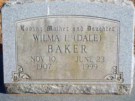 DALE BAKER, WILMA I. - Washington County, Arkansas | WILMA I. DALE BAKER - Arkansas Gravestone Photos