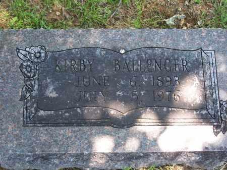 BALLENGER, KIRBY - Washington County, Arkansas | KIRBY BALLENGER - Arkansas Gravestone Photos