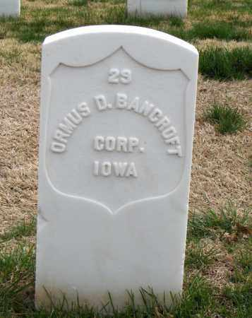 BANCROFT (VETERAN UNION), ORMUS D - Washington County, Arkansas | ORMUS D BANCROFT (VETERAN UNION) - Arkansas Gravestone Photos