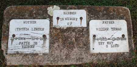 BARBER, WILLIAM THOMAS - Washington County, Arkansas | WILLIAM THOMAS BARBER - Arkansas Gravestone Photos