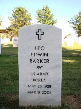 BARKER  (VETERAN KOR), LEO EDWIN - Washington County, Arkansas | LEO EDWIN BARKER  (VETERAN KOR) - Arkansas Gravestone Photos
