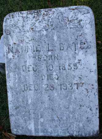 BATES, NANNIE LEE - Washington County, Arkansas | NANNIE LEE BATES - Arkansas Gravestone Photos