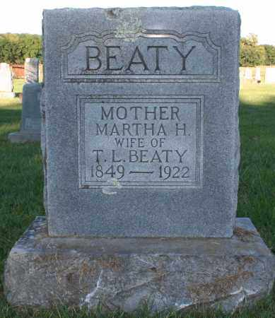 BURKETT BEATY, MARTHA H. - Washington County, Arkansas | MARTHA H. BURKETT BEATY - Arkansas Gravestone Photos