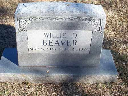 BEAVER, WILLIE D. - Washington County, Arkansas | WILLIE D. BEAVER - Arkansas Gravestone Photos