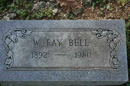 BELL, W. FAY - Washington County, Arkansas | W. FAY BELL - Arkansas Gravestone Photos