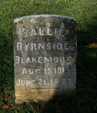 BYRNSIDE BLAKEMORE, SALLIE - Washington County, Arkansas | SALLIE BYRNSIDE BLAKEMORE - Arkansas Gravestone Photos