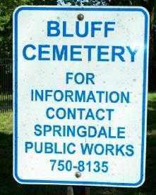 *BLUFF CEMETERY INFO SIGN,  - Washington County, Arkansas |  *BLUFF CEMETERY INFO SIGN - Arkansas Gravestone Photos