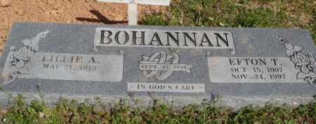 BOHANNAN, EFTON T. - Washington County, Arkansas | EFTON T. BOHANNAN - Arkansas Gravestone Photos