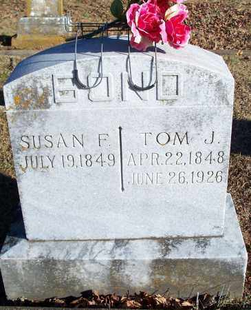 BOND, SUSAN F. - Washington County, Arkansas | SUSAN F. BOND - Arkansas Gravestone Photos