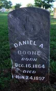 BOONE, DANIEL A. - Washington County, Arkansas | DANIEL A. BOONE - Arkansas Gravestone Photos