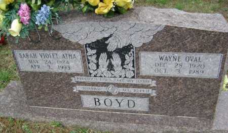 BOYD, WAYNE OVAL - Washington County, Arkansas | WAYNE OVAL BOYD - Arkansas Gravestone Photos