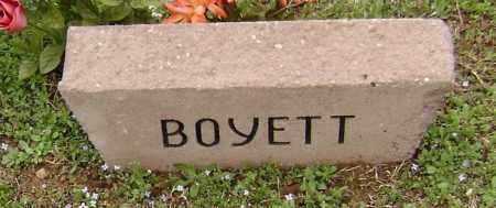 BOYETT, UNKNOWN - Washington County, Arkansas | UNKNOWN BOYETT - Arkansas Gravestone Photos