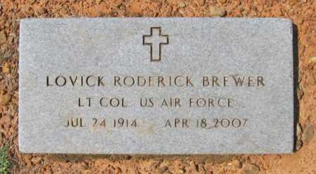 BREWER (VETERAN), LOVICK RODERICK - Washington County, Arkansas | LOVICK RODERICK BREWER (VETERAN) - Arkansas Gravestone Photos