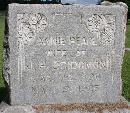 BRIDGMON, ANNIE PEARL - Washington County, Arkansas | ANNIE PEARL BRIDGMON - Arkansas Gravestone Photos