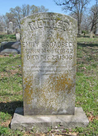 BROADBECK, EMILY - Washington County, Arkansas | EMILY BROADBECK - Arkansas Gravestone Photos