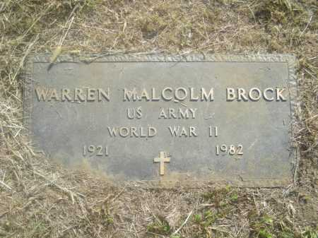 BROCK  (VETERAN WWII), WARREN MALCOM - Washington County, Arkansas | WARREN MALCOM BROCK  (VETERAN WWII) - Arkansas Gravestone Photos