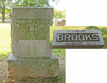PETTIGREW BROOKS, MARY - Washington County, Arkansas | MARY PETTIGREW BROOKS - Arkansas Gravestone Photos