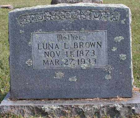 BROWN, LUNA L. - Washington County, Arkansas | LUNA L. BROWN - Arkansas Gravestone Photos