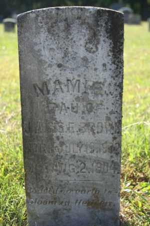BROWN, MAMIE - Washington County, Arkansas | MAMIE BROWN - Arkansas Gravestone Photos
