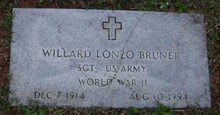 BRUNER (VETERAN WWII), WILLARD LONZO - Washington County, Arkansas | WILLARD LONZO BRUNER (VETERAN WWII) - Arkansas Gravestone Photos