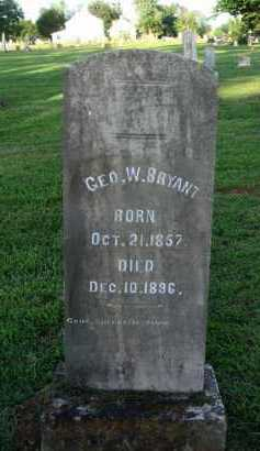 BRYANT, GEORGE W. - Washington County, Arkansas | GEORGE W. BRYANT - Arkansas Gravestone Photos
